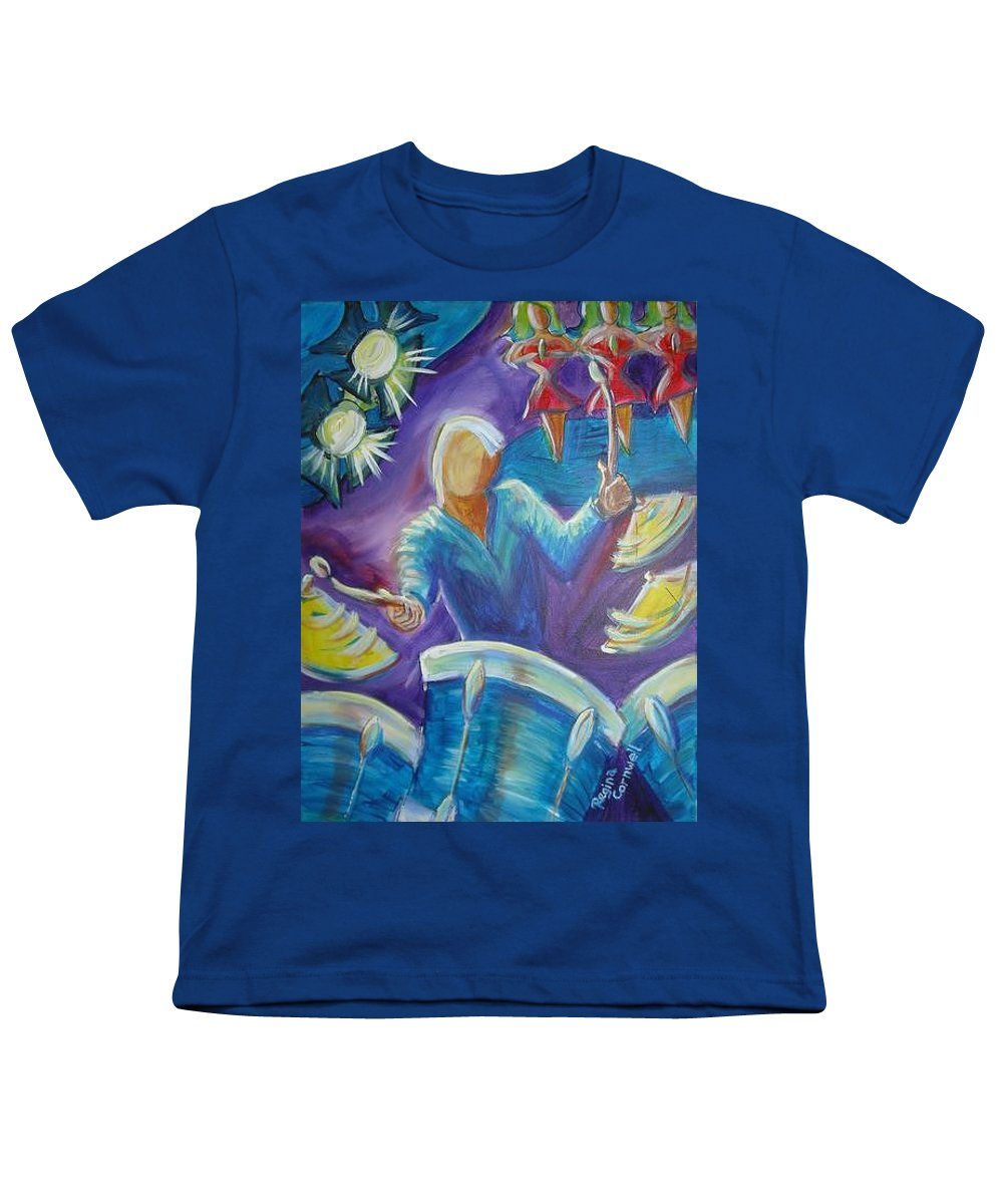Jazz Youth T-Shirt featuring the painting Give Me A Beat by Regina Walsh