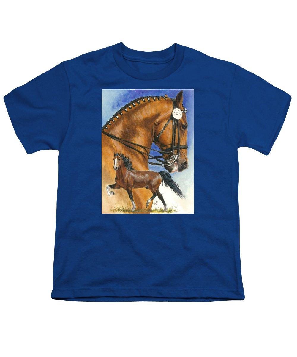 Hackney Youth T-Shirt featuring the mixed media Hackney by Barbara Keith