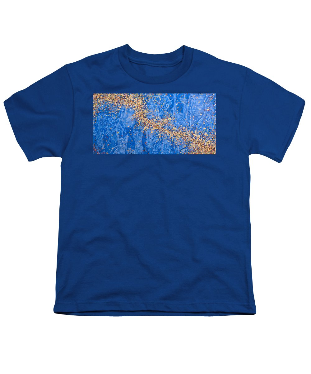 Waterfall Youth T-Shirt featuring the painting In The Falls by Judy Henninger
