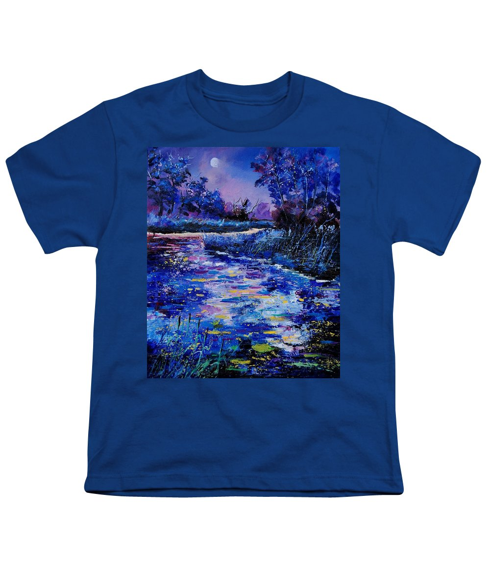 River Youth T-Shirt featuring the painting Magic Pond by Pol Ledent