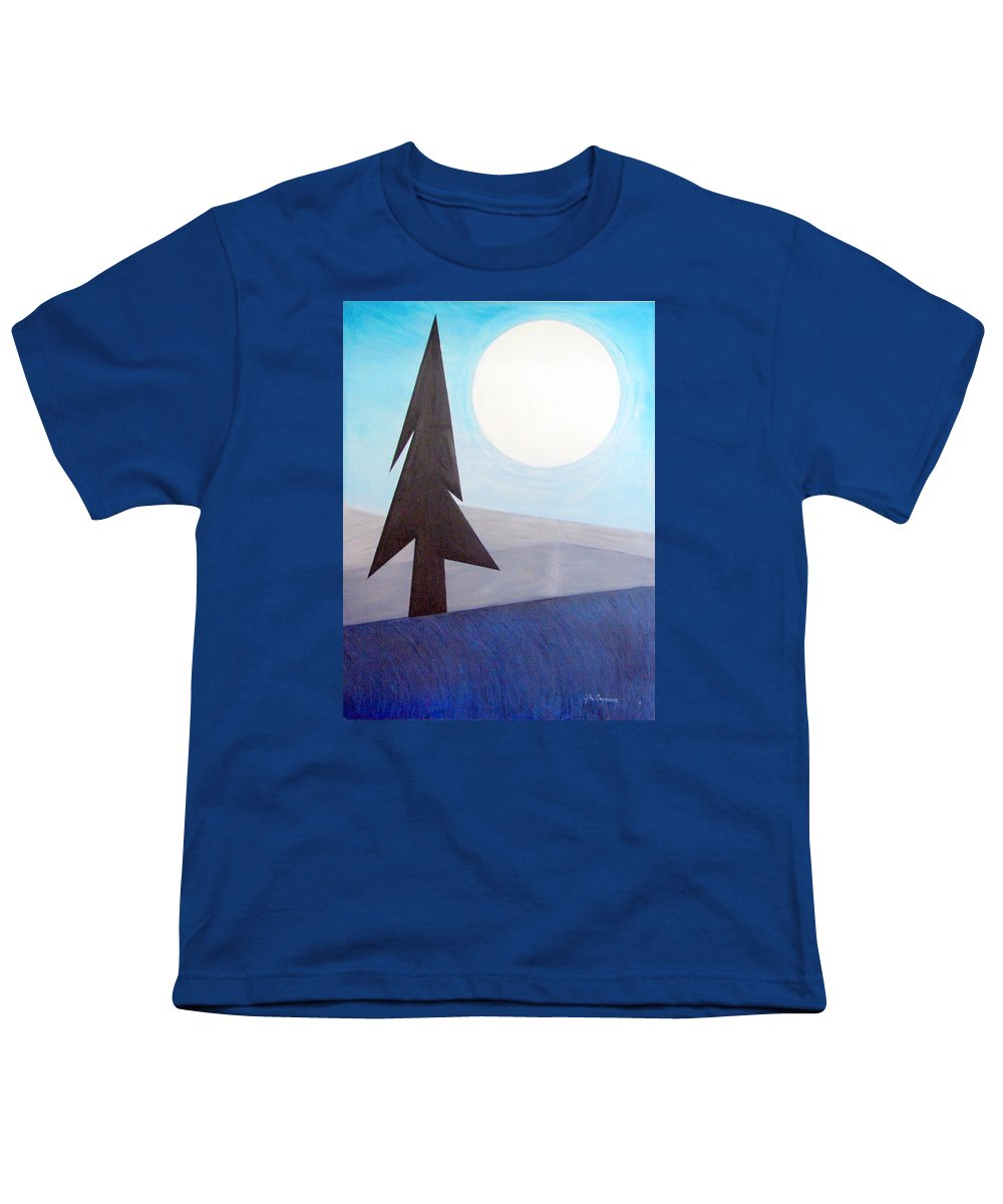 Phases Of The Moon Youth T-Shirt featuring the painting Moon Rings by J R Seymour