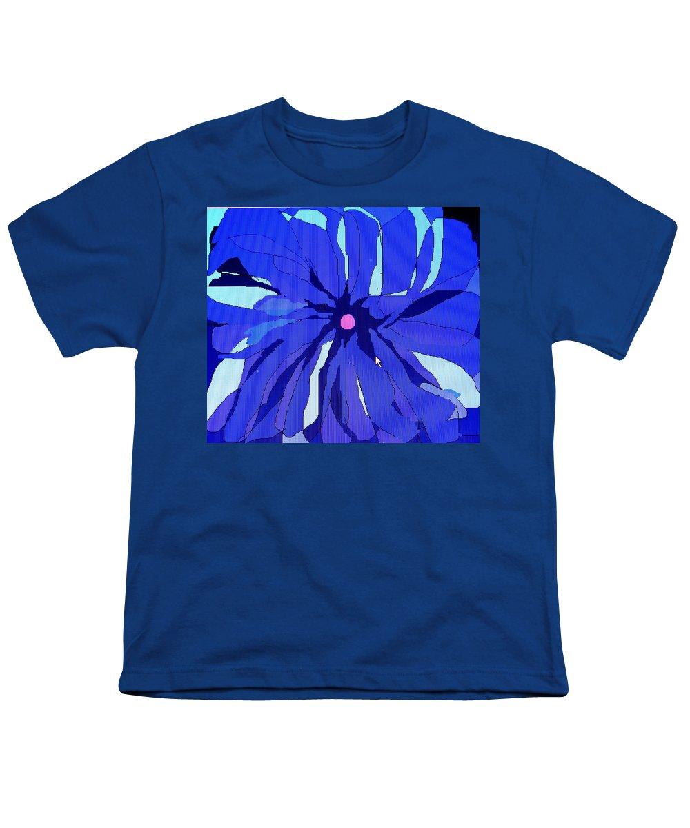 Flower Youth T-Shirt featuring the digital art My Fantastic Flower by Ian MacDonald