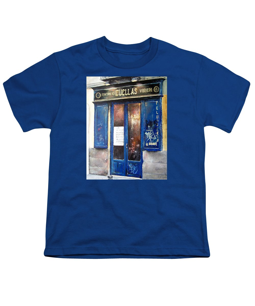 Old Youth T-Shirt featuring the painting Old Plumbing-madrid by Tomas Castano