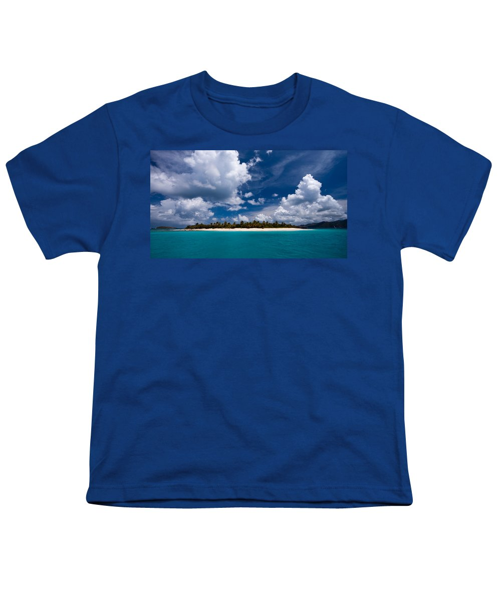 3scape Youth T-Shirt featuring the photograph Paradise Is Sandy Cay by Adam Romanowicz