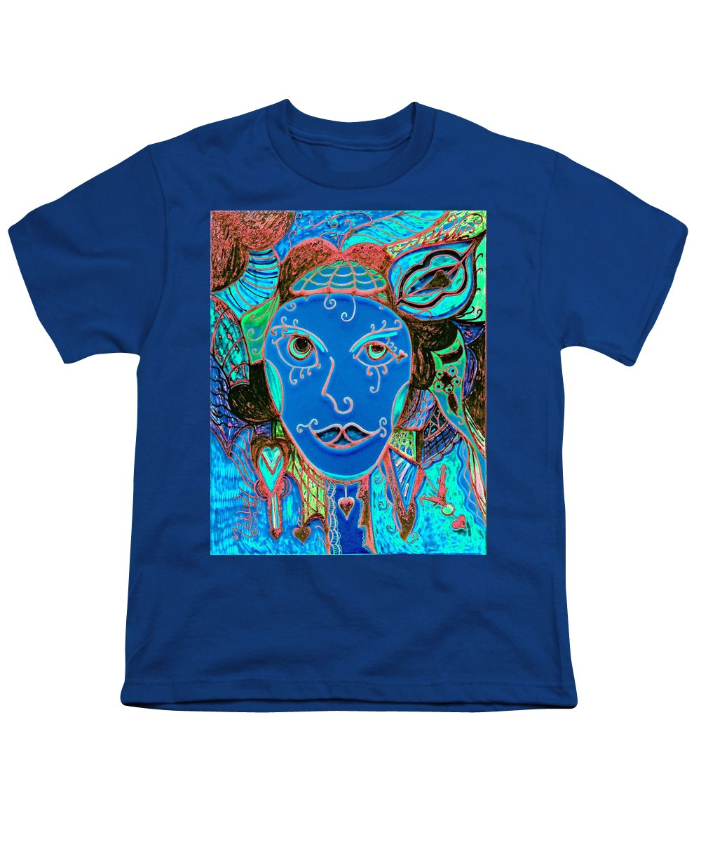 Party Girl Youth T-Shirt featuring the painting Party Girl by Natalie Holland