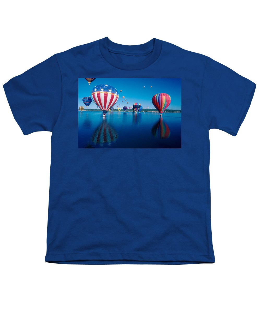 Hot Air Balloons Youth T-Shirt featuring the photograph Patriotic Hot Air Balloon by Jerry McElroy