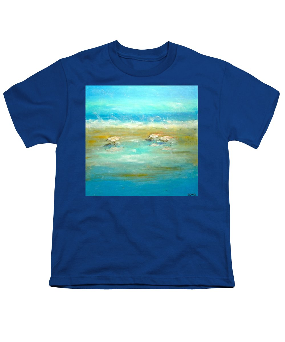 Pipers Youth T-Shirt featuring the painting Pipers by Paul Emig