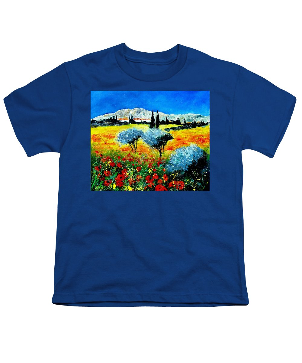Poppies Youth T-Shirt featuring the painting Provence by Pol Ledent