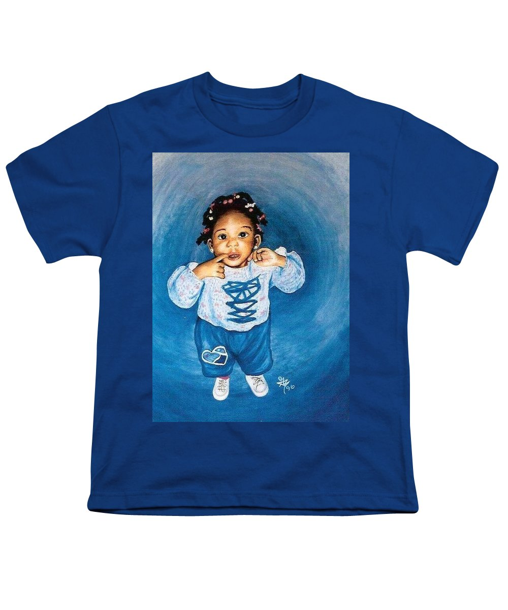 Child Youth T-Shirt featuring the pastel Sadie by Gale Cochran-Smith