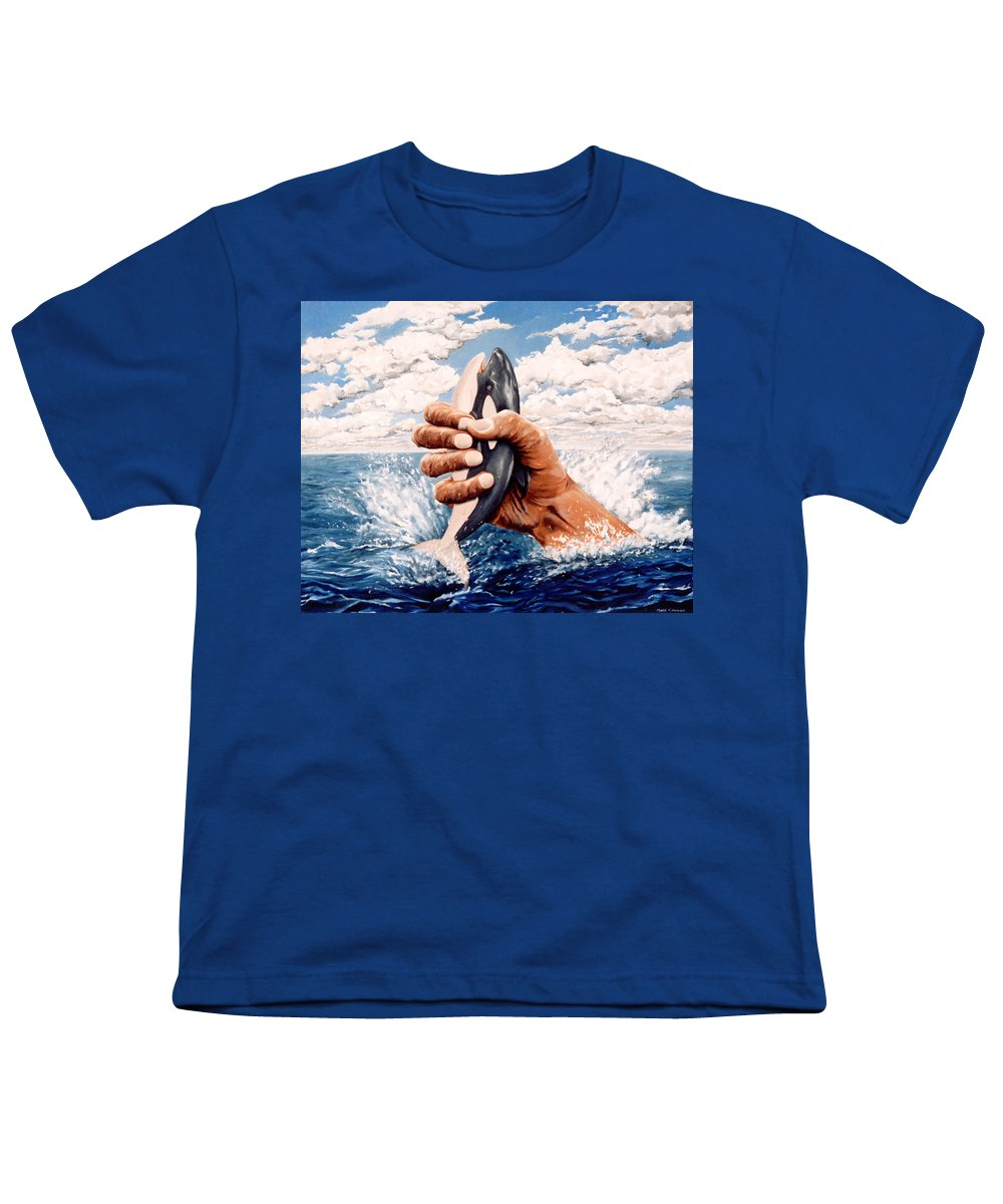 Surreal Youth T-Shirt featuring the painting Stop Whaling by Mark Cawood