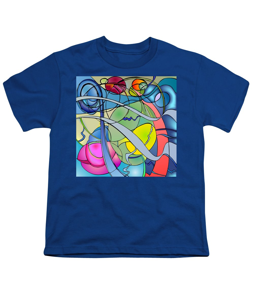 Nonobjective Youth T-Shirt featuring the digital art Thought Patterns #2 by James Fryer