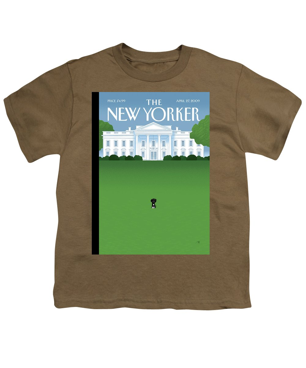 Obama Youth T-Shirt featuring the painting New Yorker April 27th, 2009 by Bob Staake
