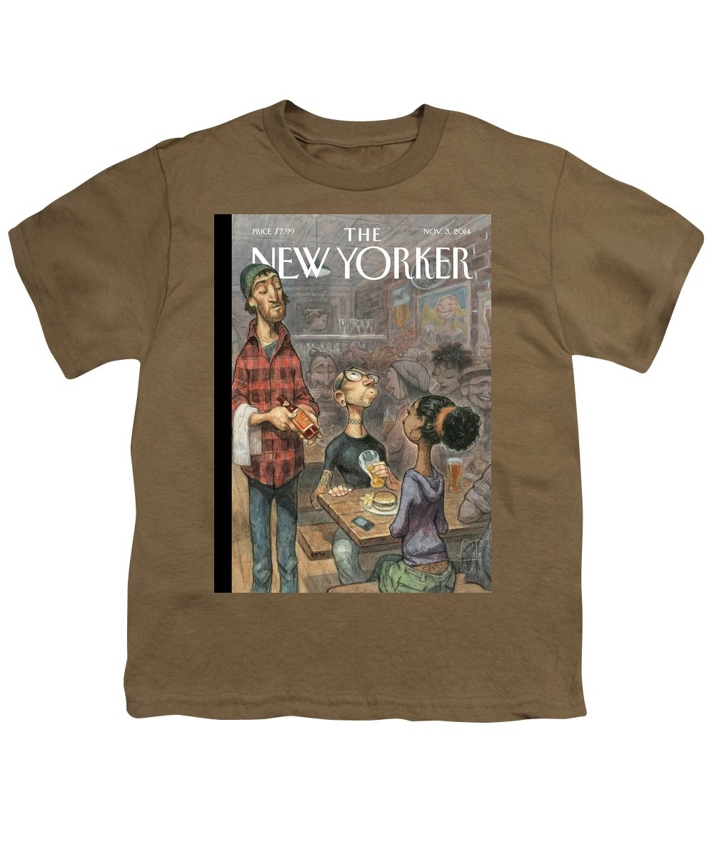 Elite Youth T-Shirt featuring the painting Hip Hops by Peter de Seve