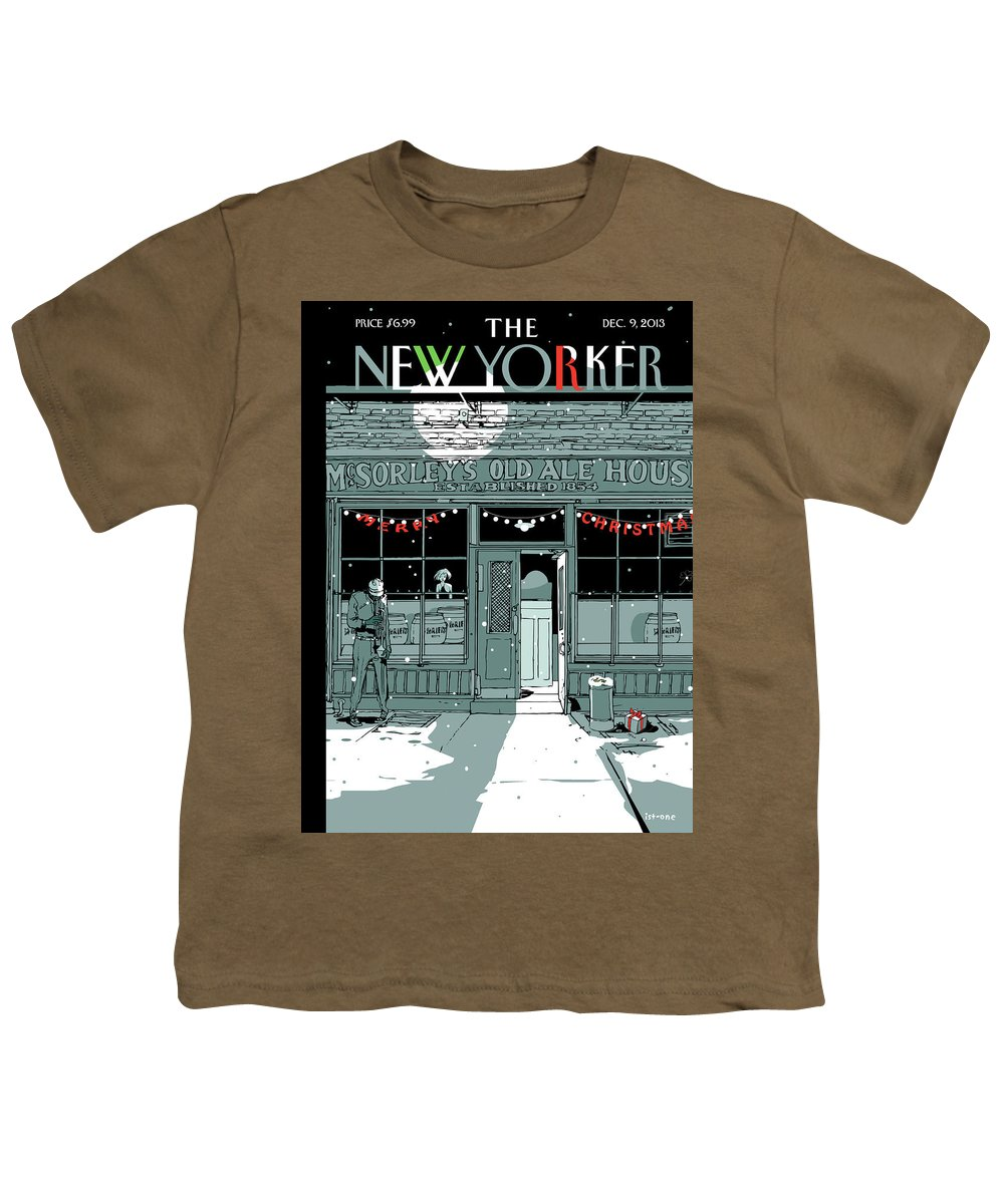 Tis The Season Youth T-Shirt featuring the painting Tis The Season by Istvan Banyai