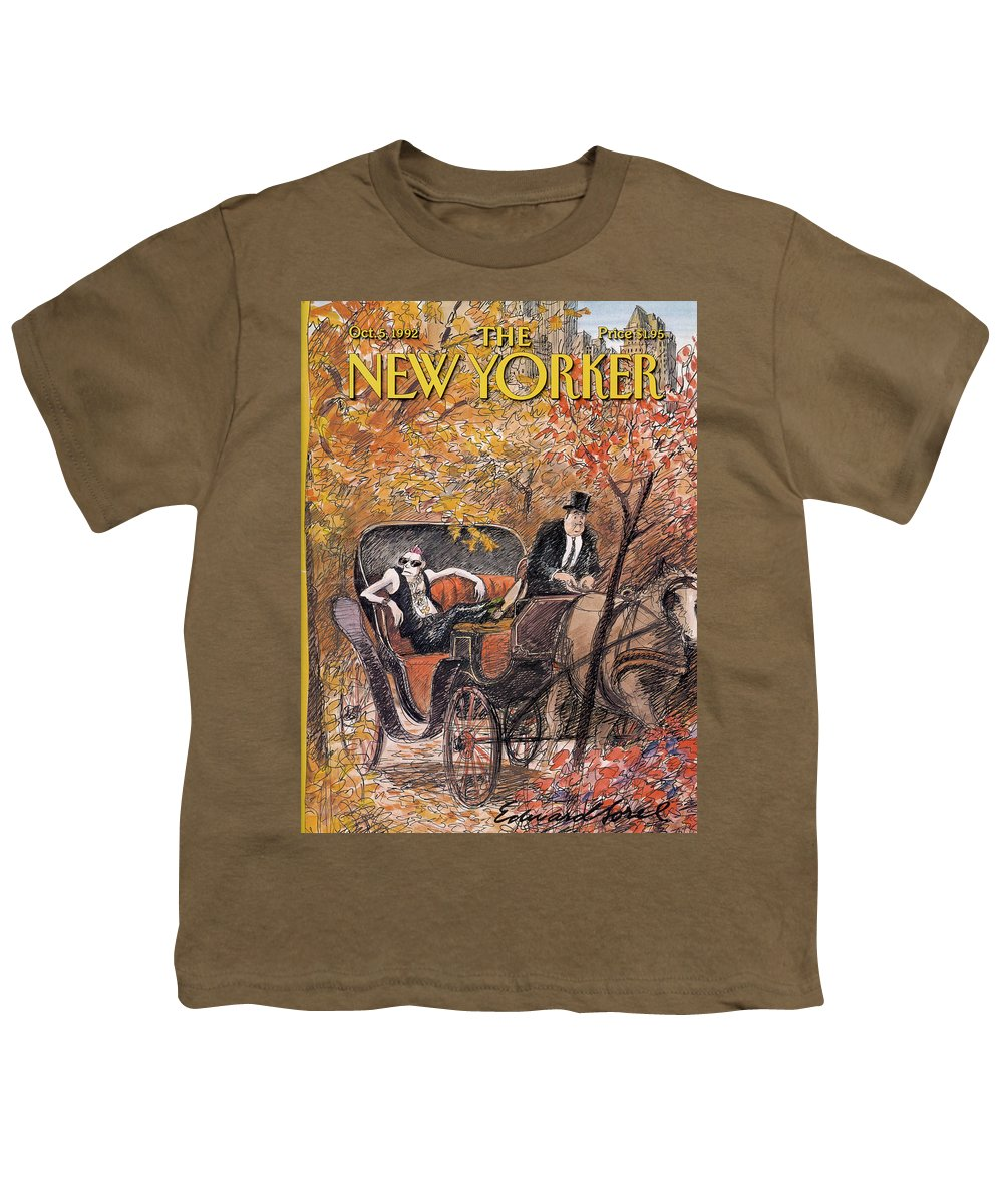 Artkey 50687 Eso Youth T-Shirt featuring the painting New Yorker October 5th, 1992 by Edward Sorel
