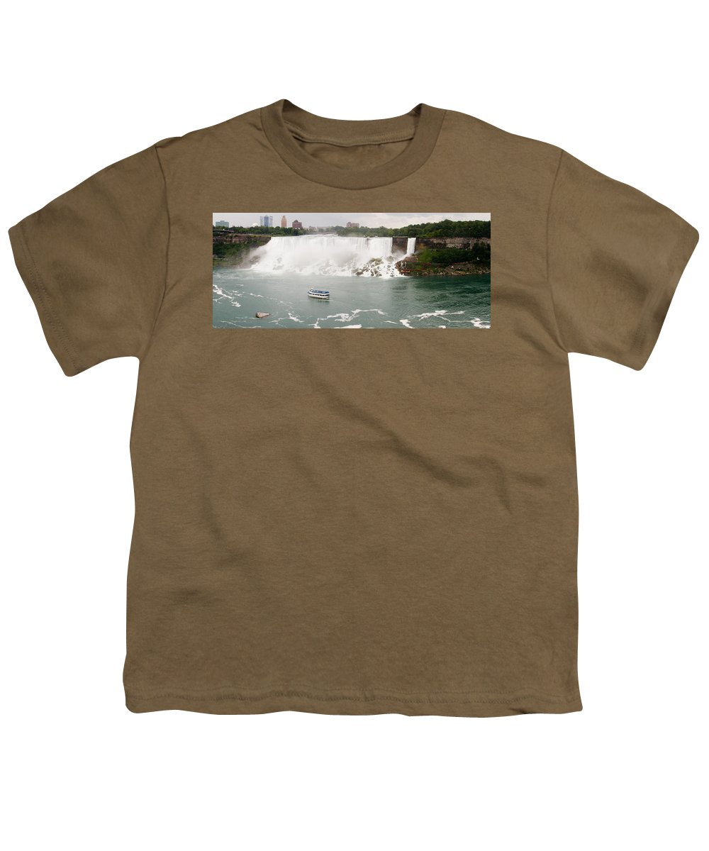 3scape Youth T-Shirt featuring the photograph American Falls by Adam Romanowicz