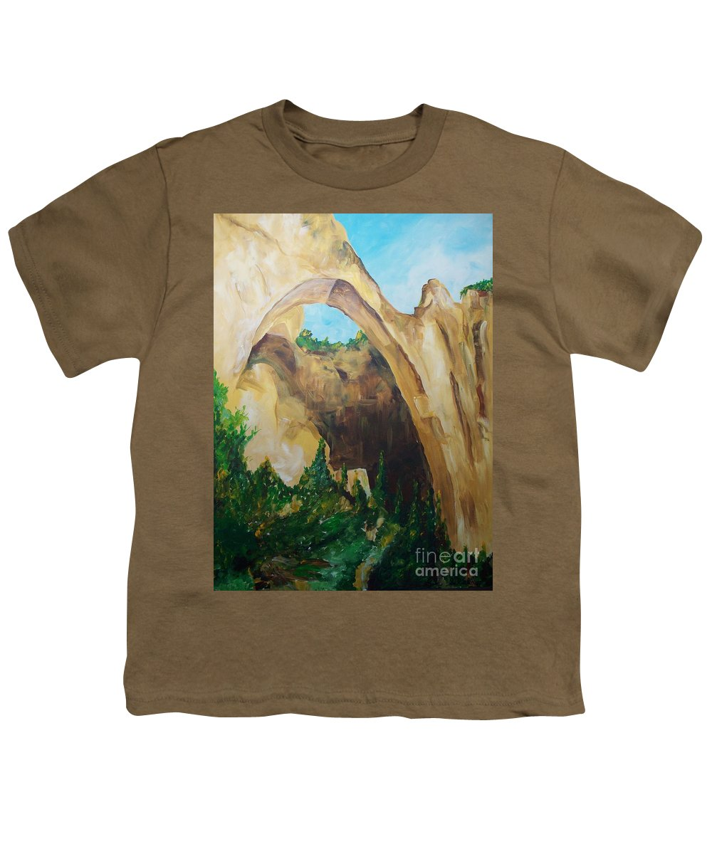 Floral Youth T-Shirt featuring the painting Arch by Eric Schiabor