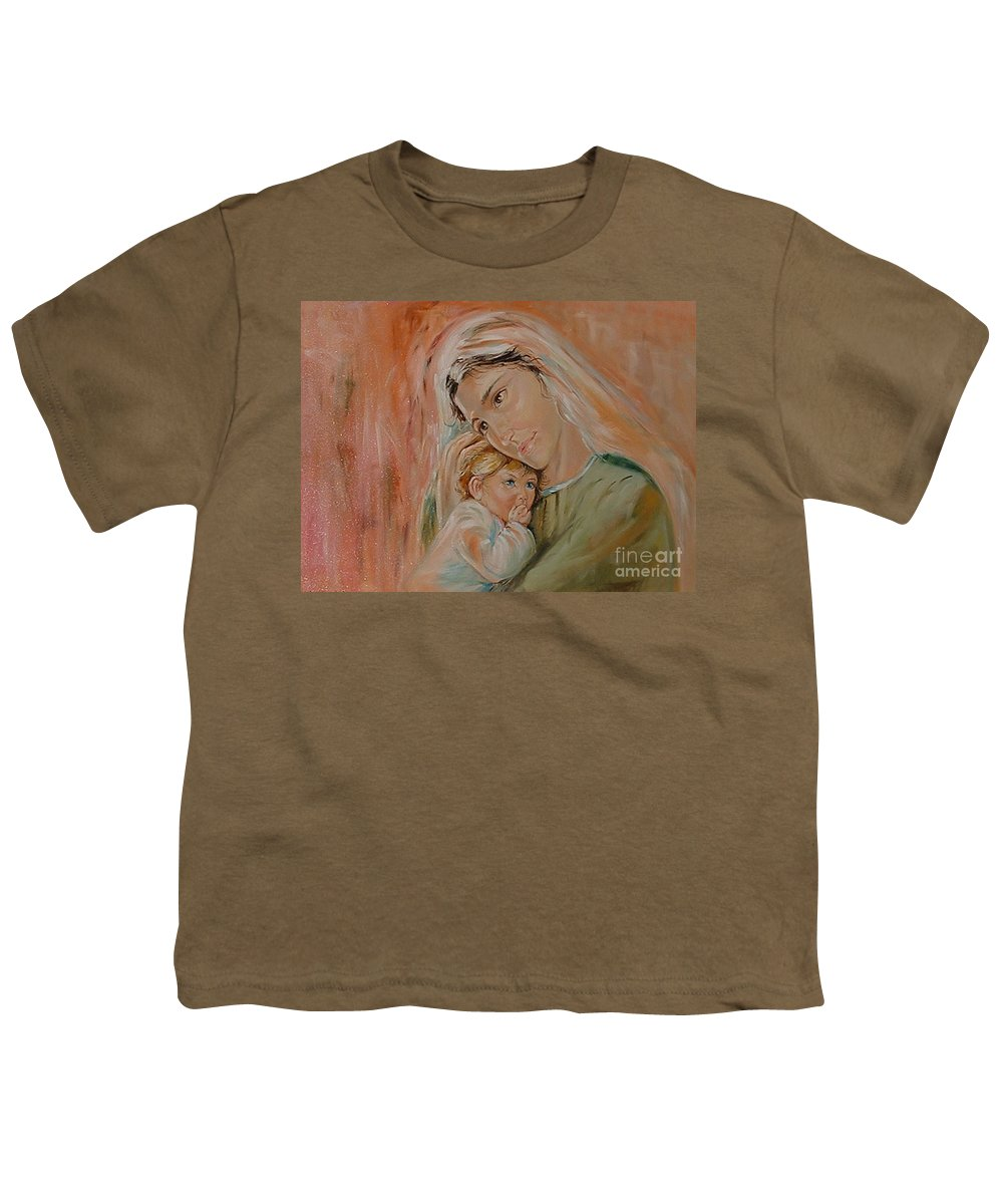 Classic Art Youth T-Shirt featuring the painting Ave Maria by Silvana Abel