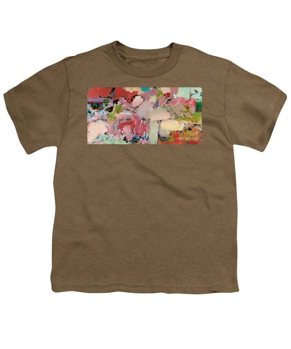 Landscape Youth T-Shirt featuring the painting Azaleas by Allan P Friedlander