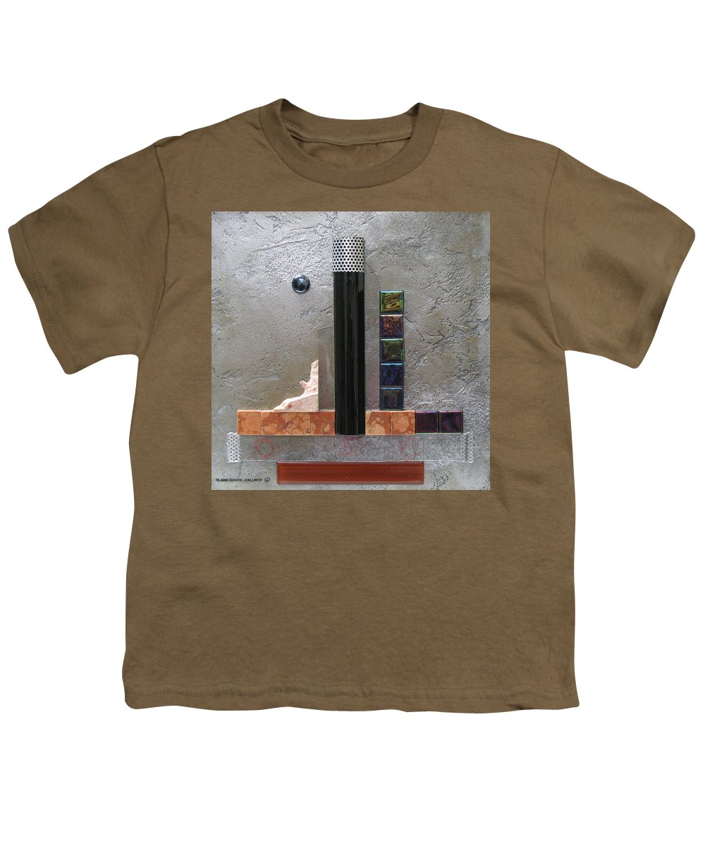 Assemblage Youth T-Shirt featuring the relief Black Tower by Elaine Booth-Kallweit