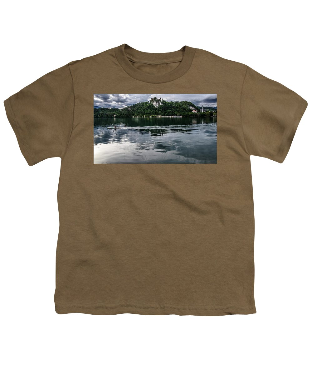 Bled Youth T-Shirt featuring the photograph Bled Lake Landscape by Luca Lorenzelli