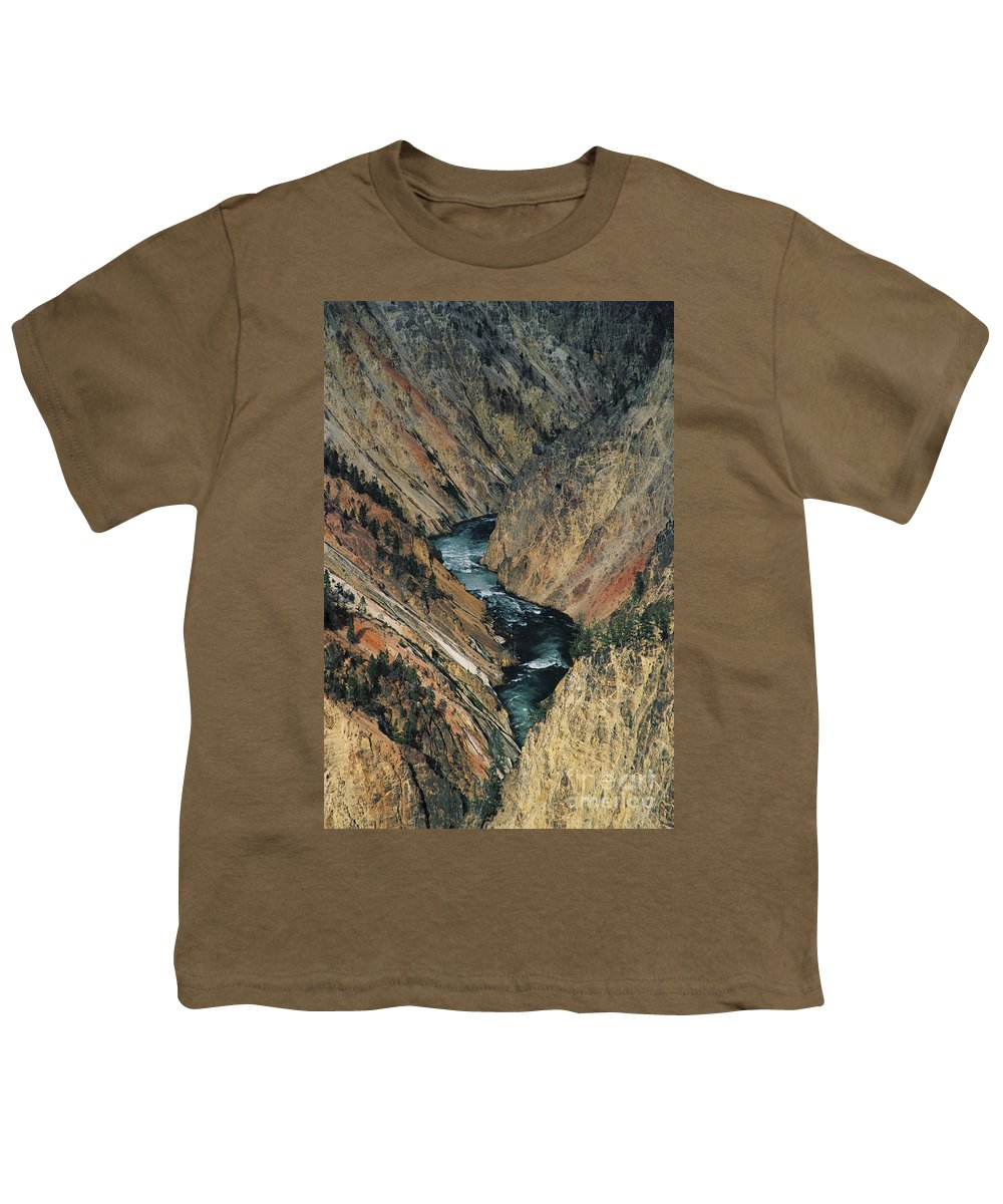 Yellowstone Youth T-Shirt featuring the photograph Canyon Jewel by Kathy McClure