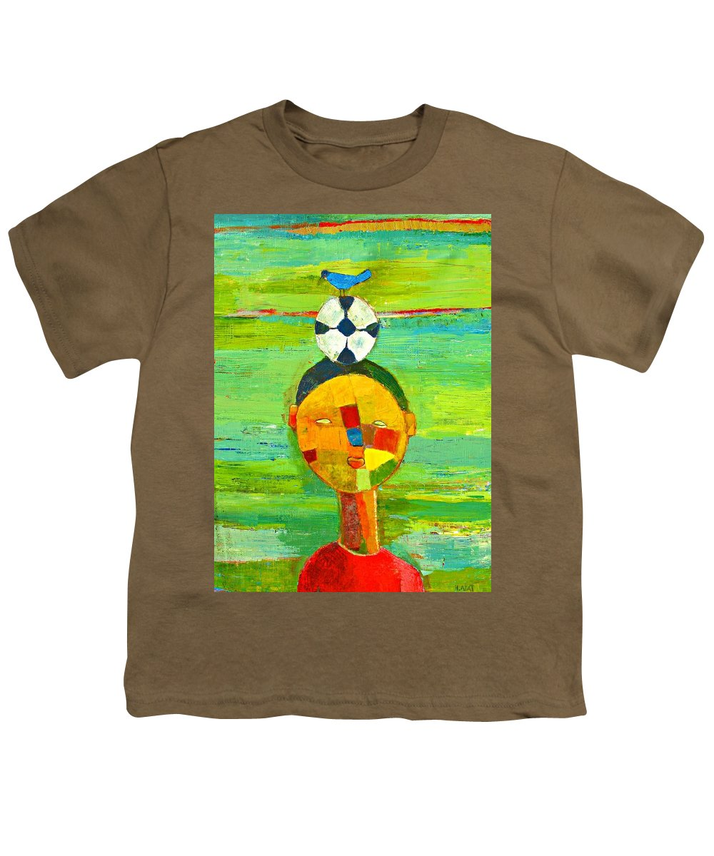 Childhood Youth T-Shirt featuring the painting Childhood Memories by Habib Ayat