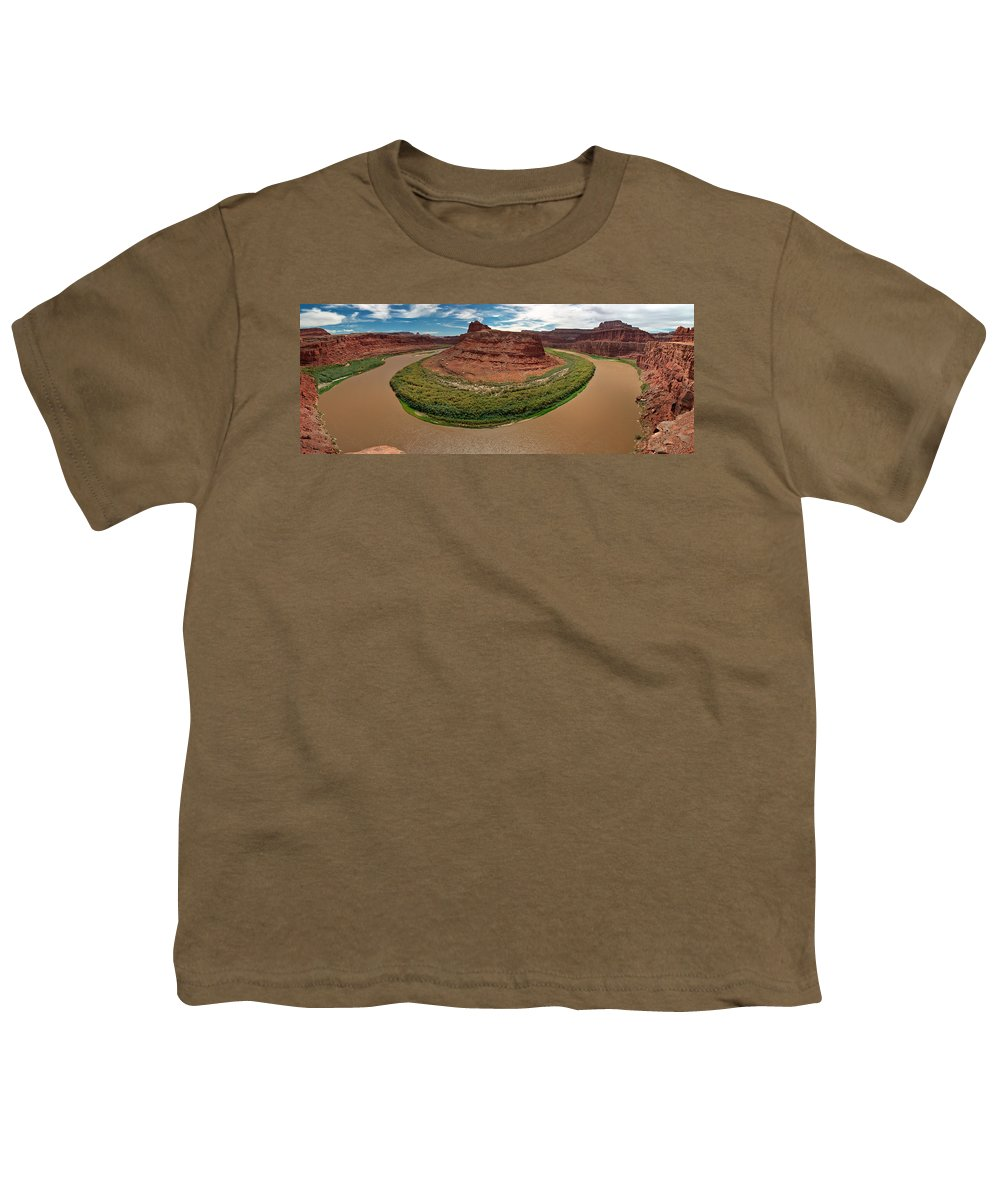 3scape Photos Youth T-Shirt featuring the photograph Colorado River Gooseneck by Adam Romanowicz