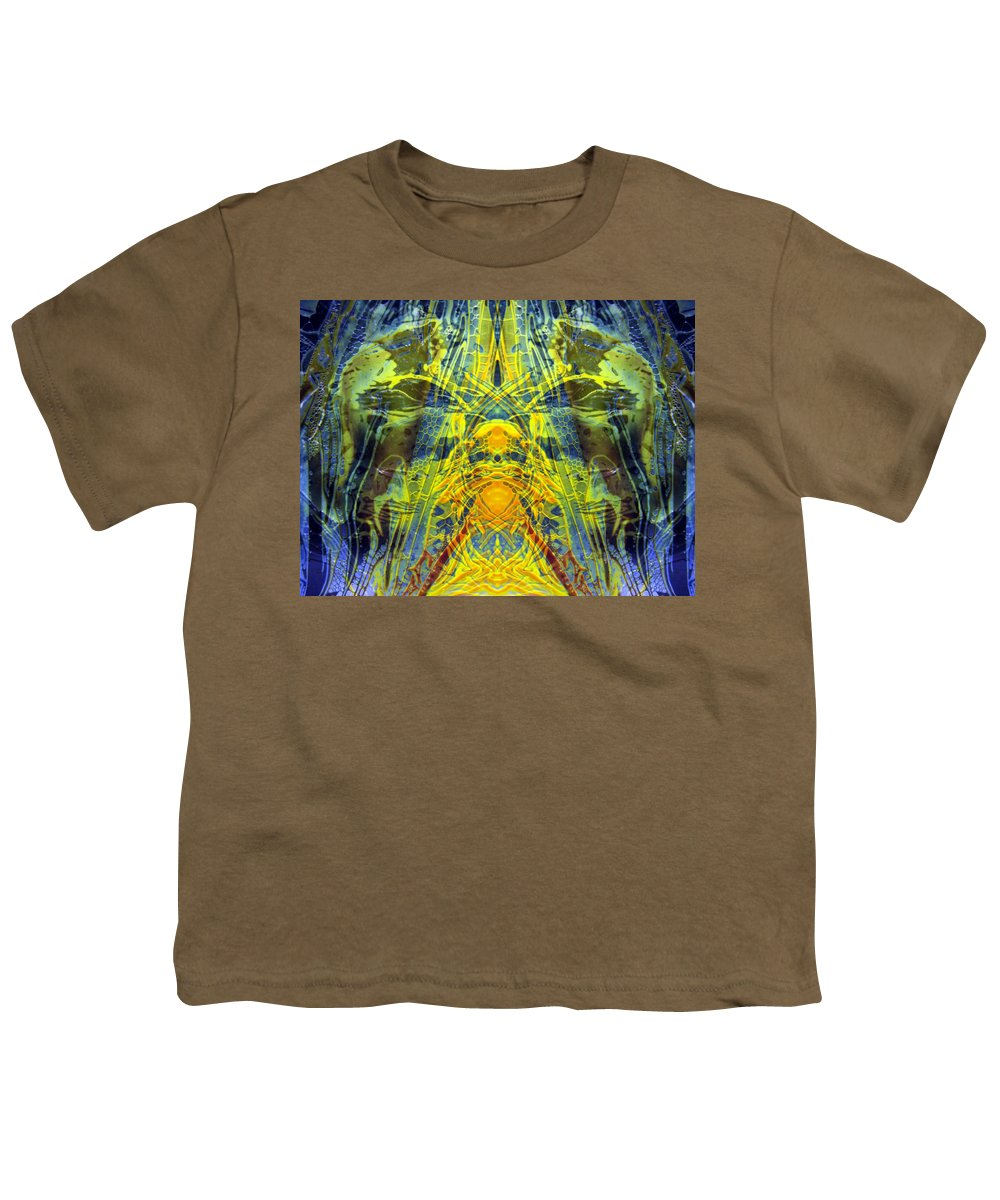 Surrealism Youth T-Shirt featuring the digital art Decalcomaniac Intersection 1 by Otto Rapp