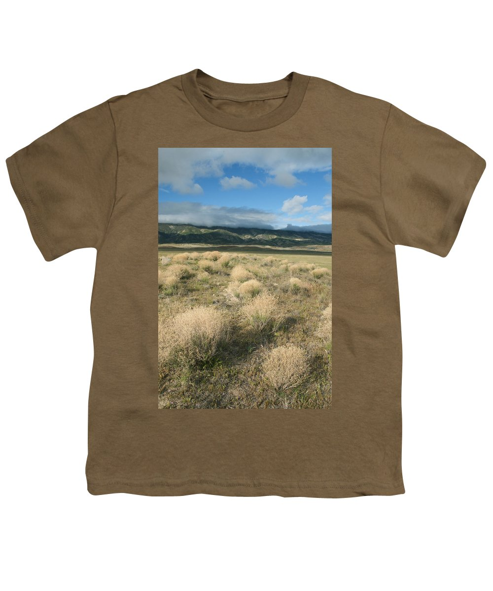 Feb0514 Youth T-Shirt featuring the photograph Dried Shrubs In Late Winter Carrizo by Kevin Schafer
