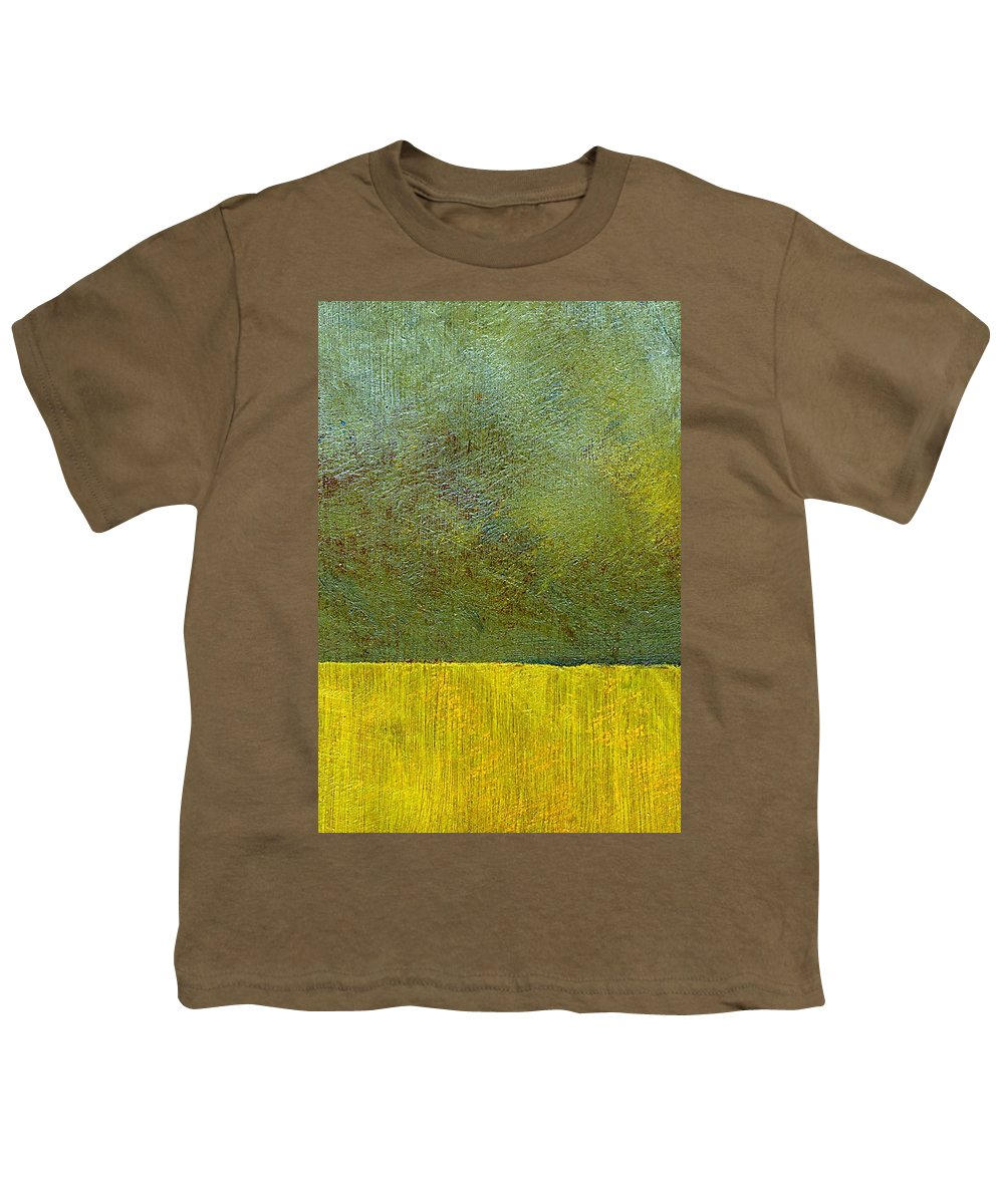 Abstract Landscape Youth T-Shirt featuring the painting Earth Study Two by Michelle Calkins