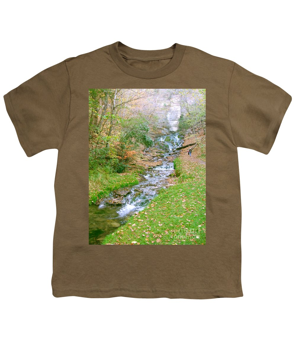 Springs Youth T-Shirt featuring the photograph Fall Springs by Minding My Visions by Adri and Ray
