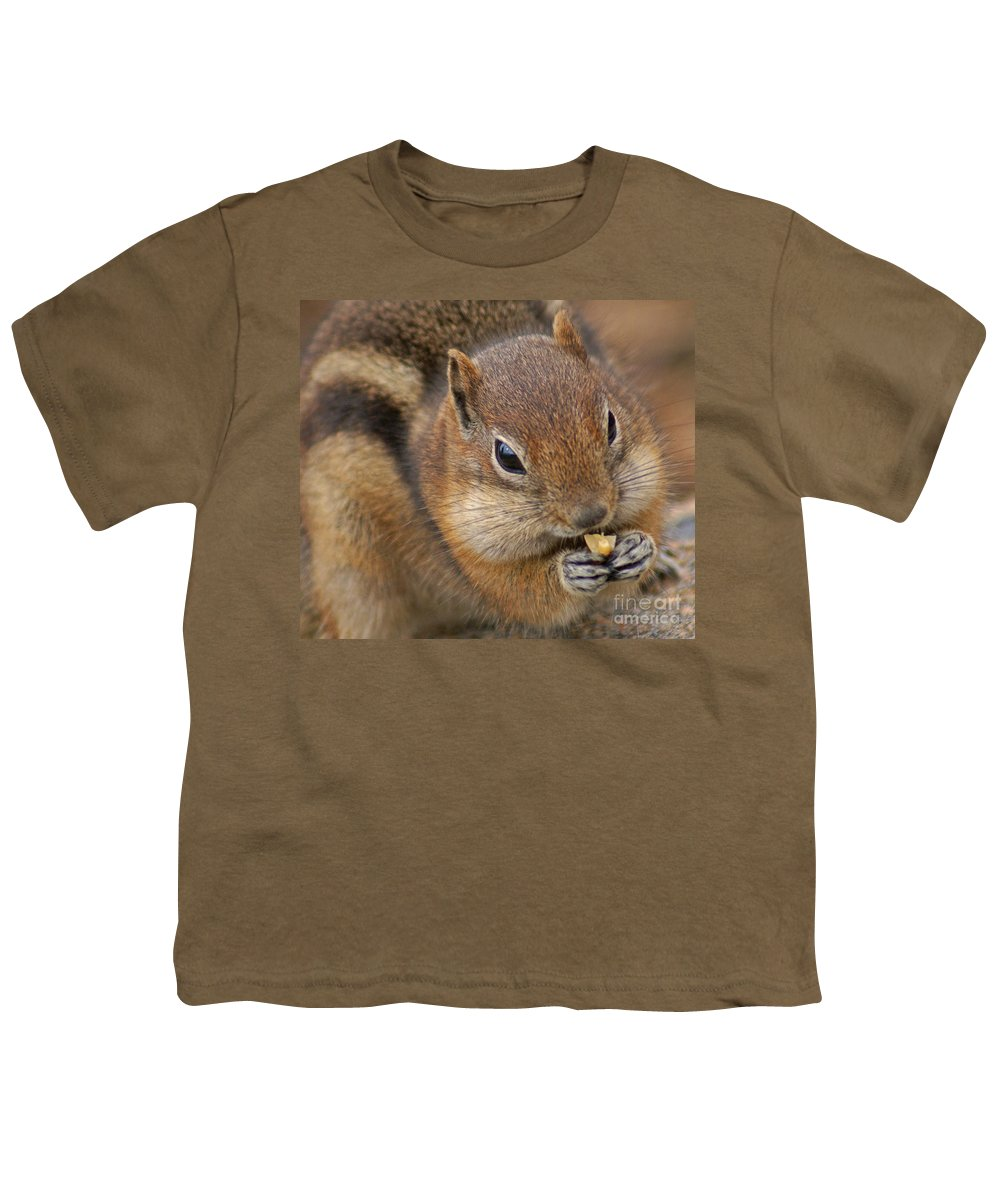 Ground Squirrel Youth T-Shirt featuring the photograph Ground Squirrel by Heather Coen