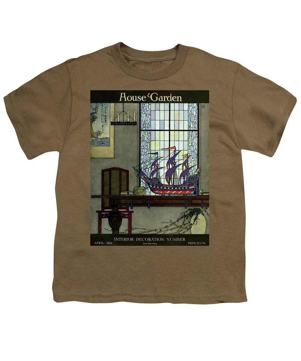 House And Garden Youth T-Shirt featuring the photograph House And Garden by Harry Richardson