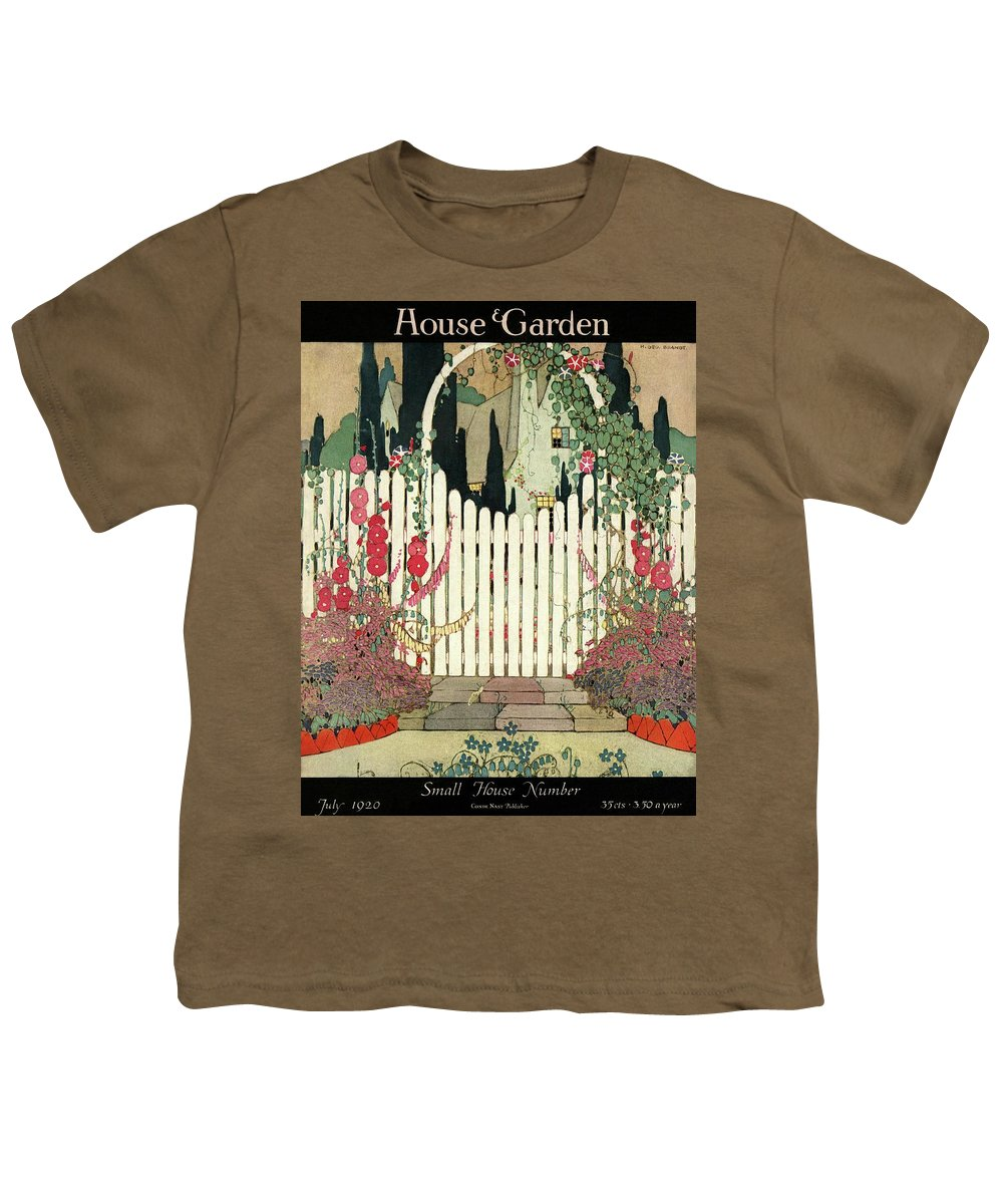 House And Garden Youth T-Shirt featuring the photograph House And Garden Small House Number by H. George Brandt