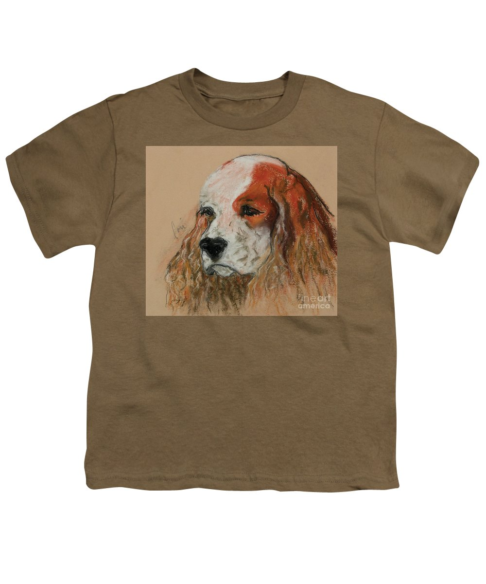 Dog Youth T-Shirt featuring the pastel Idle Thoughts by Cori Solomon