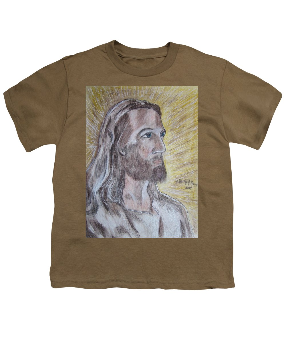 Jesus Youth T-Shirt featuring the painting Jesus by Kathy Marrs Chandler