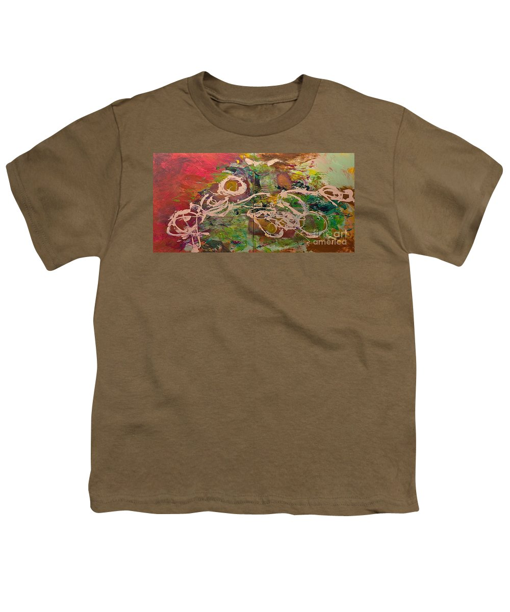 Landscape Youth T-Shirt featuring the painting Journey Forth by Allan P Friedlander