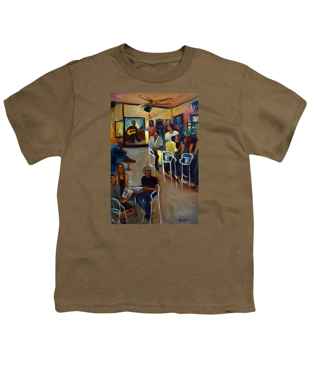 Art Bar Youth T-Shirt featuring the painting Kevro's Art Bar by Valerie Vescovi