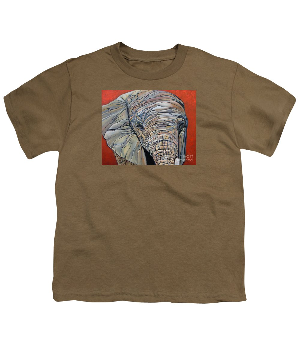 Elephant Youth T-Shirt featuring the painting Lazy Boy by Aimee Vance