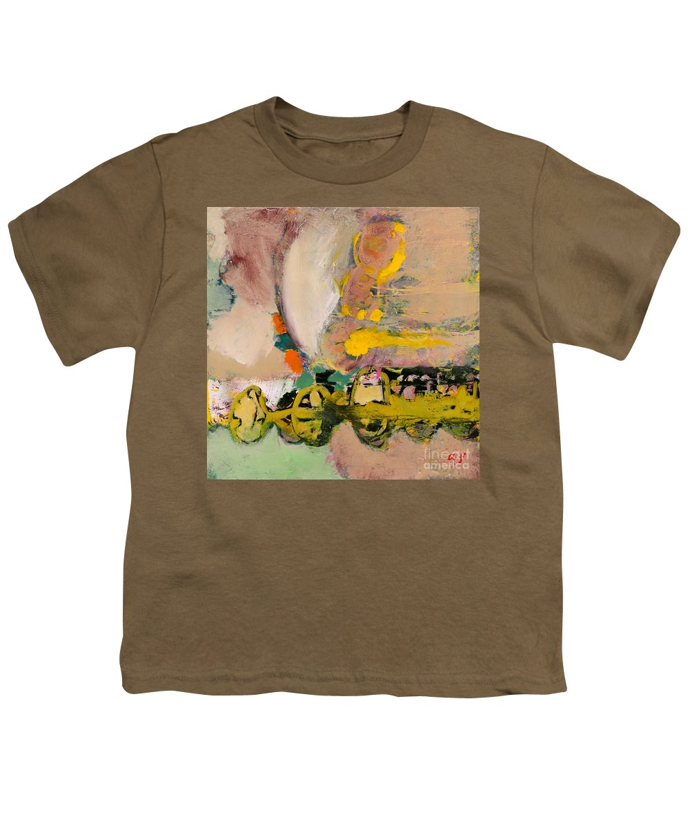 Landscape Youth T-Shirt featuring the painting Locomotion by Allan P Friedlander