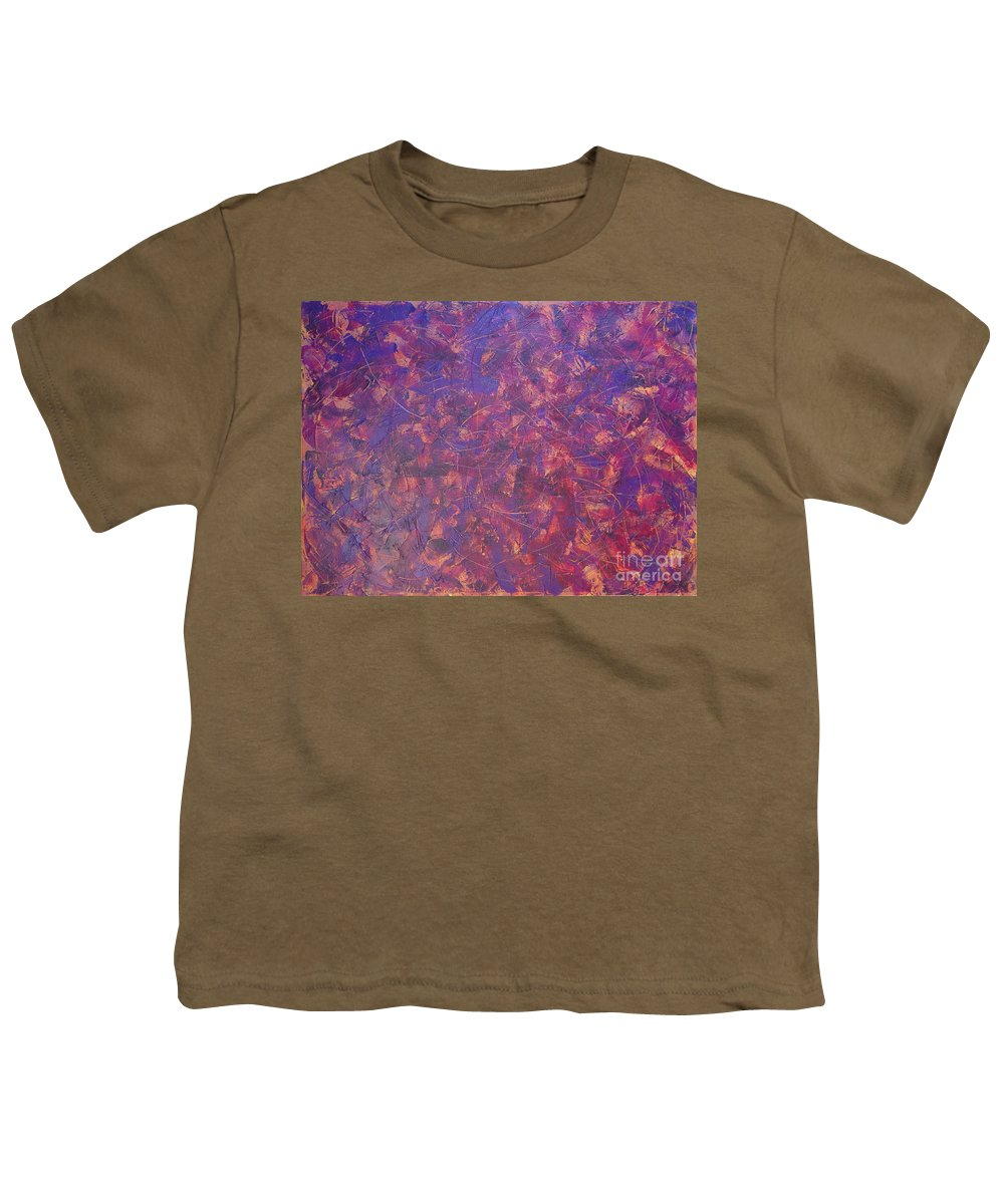 Abstract Youth T-Shirt featuring the painting Long Beach 5am by Dean Triolo