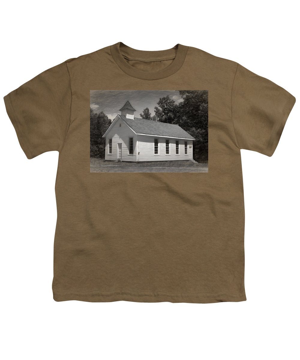 Abandoned Youth T-Shirt featuring the photograph Meeting House by Richard Rizzo