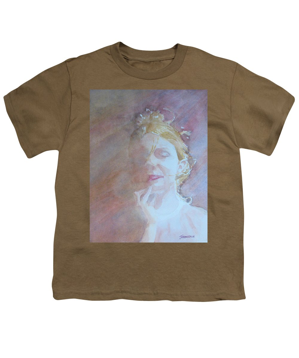 Romance Youth T-Shirt featuring the painting Memories Of Romance by Jenny Armitage