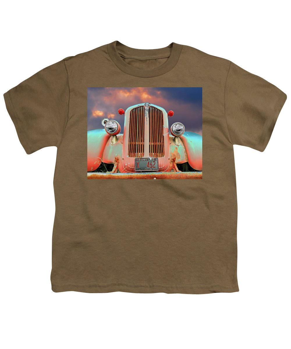 Truck Youth T-Shirt featuring the photograph Old Firefighter by Ron Day