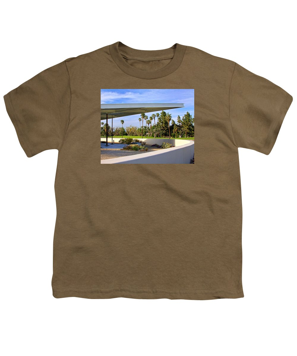 Palm Springs Youth T-Shirt featuring the photograph OVERHANG Palm Springs Tram Station by William Dey
