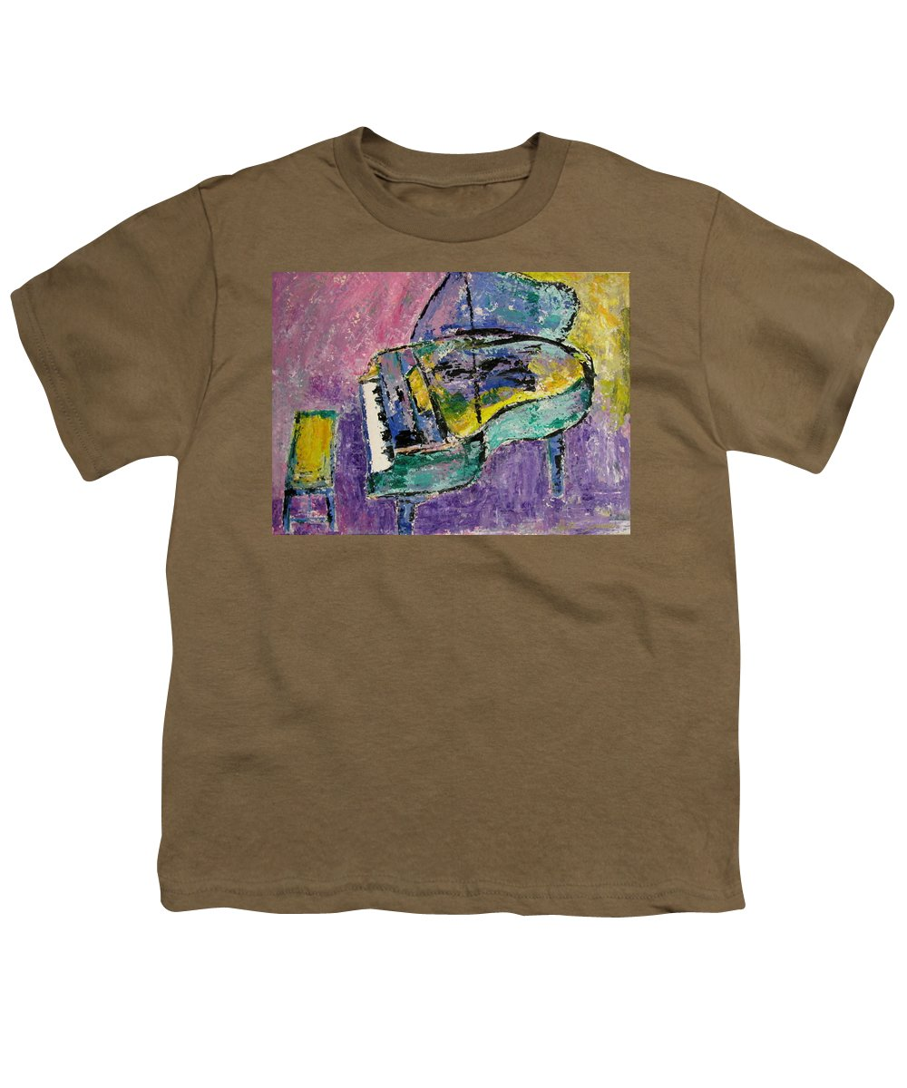 Impressionist Youth T-Shirt featuring the painting Piano Green by Anita Burgermeister