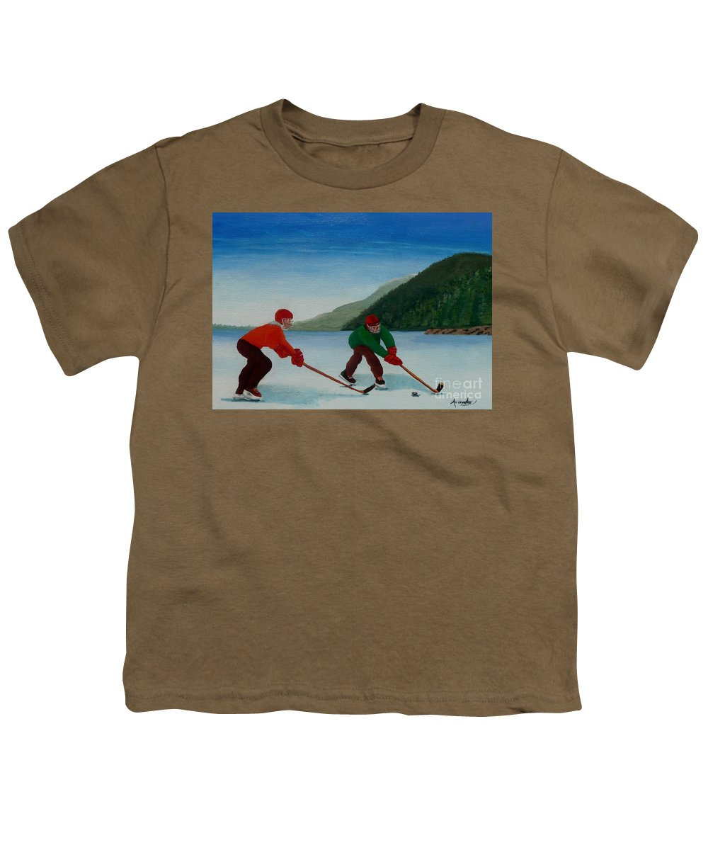 Pond Youth T-Shirt featuring the painting Reach For It by Anthony Dunphy