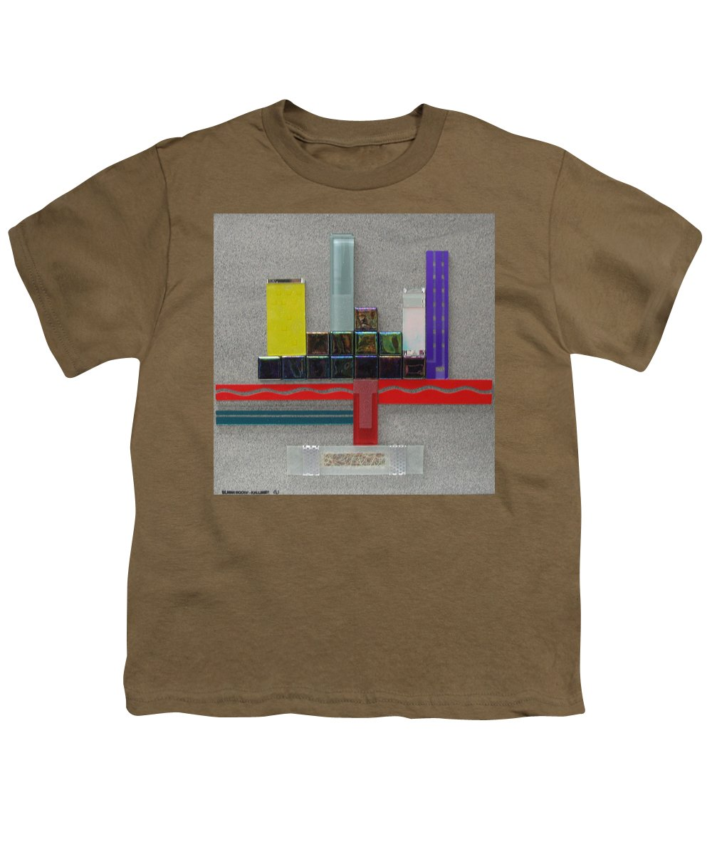 Assemblage Youth T-Shirt featuring the relief Red River City by Elaine Booth-Kallweit