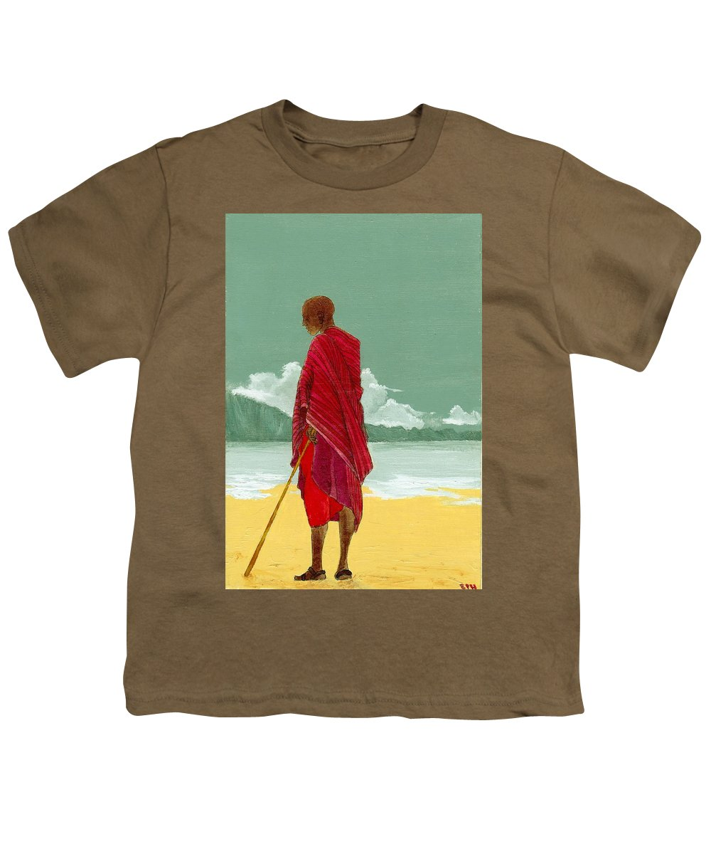 Figurative Painting Youth T-Shirt featuring the painting Reverence by Edith Peterson-Watson